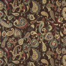 K0021A Blue Red Green Yellow Brown Floral Paisley Contemporary Upholstery Fabric By The Yard