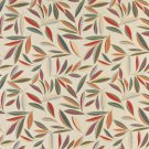 "54"""" Wide K0022A Red Orange Gold Green Blue Foliage Leaves Contemporary Upholstery Fabric By The Yar"