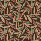 "54"""" Wide K0022B Red Blue Green Brown Foliage Leaves Contemporary Upholstery Fabric By The Yard"