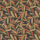 """54"""""""" Wide K0022C Red, Green and Blue, Foliage Leaves Contemporary Upholstery Fabric By The Yard"""