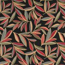 """54"""""""" Wide K0022D Red, Blue and Orange, Foliage Leaves Contemporary Upholstery Fabric By The Yard"""