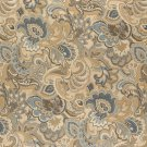"""54"""""""" Wide K0025A Gold, Blue and Green, Abstract Paisley Upholstery Fabric By The Yard"""