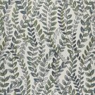 "54"""" Wide K0027A Blue, Green and Off White, Vines and Leaves Upholstery Fabric By The Yard"