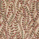 "54"""" Wide K0027B Orange, Red and Green, Vines and Leaves Upholstery Fabric By The Yard"