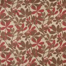"""54"""""""" Wide K0030B Brown, Beige and Red, Abstract Leaves Contemporary Upholstery Fabric By The Yard"""