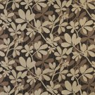 """54"""""""" Wide K0030C Brown Beige Midnight Abstract Leaves Contemporary Upholstery Fabric By The Yard"""
