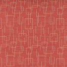 "54"""" C558 Orange Gold Green Geometric Overlapping Squares Durable Upholstery Fabric By The Yard"