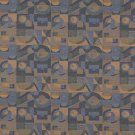 "54"""" C569 Dark Blue, Gold, and Green, Abstract Geometric, Durable Upholstery Fabric By The Yard"
