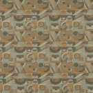 """54"""""""" C571 Gold, Green and Grey, Abstract Geometric, Durable Upholstery Fabric By The Yard"""