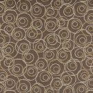 "54"""" C578 Brown, Gold and Silver, Overlapping Circles, Durable Upholstery Fabric By The Yard"