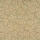 """54"""""""" C580 Beige, Brown and Green, Overlapping Circles, Durable Upholstery Fabric By The Yard"""