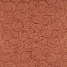 """54"""""""" C585 Orange, Red and Burgundy, Overlapping Circles, Durable Upholstery Fabric By The Yard"""