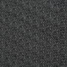 G341 Silver And Black, Metallic Raised Floral Vines Upholstery Faux Leather By The Yard