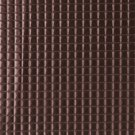 G680 Copper, Metallic Plush Squares Upholstery Faux Leather By The Yard