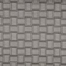 G696 Silver, Metallic Basket Woven Look Upholstery Faux Leather By The Yard