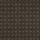 G796 Brown, Metallic Diamonds and Squares Upholstery Faux Leather By The Yard