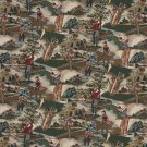 """54"""""""" Wide A004 Close-up Golfers Golf Course Golf bags Themed Tapestry Upholstery Fabric By The Yard"""