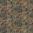 """54"""""""" Wide A016 Wilderness Deer Cabins Trees Leaves Themed Tapestry Upholstery Fabric By The Yard"""
