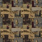 A025 Fishermen Lures Fly Fishing Water Camouflage Themed Tapestry Upholstery Fabric By The Yard