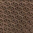 G864 Brown Metallic Shiny Patterned Faux Leather By The Yard