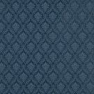 A145 Dark Blue Foliage And Bouquets Upholstery Fabric By The Yard | Width: 54""""