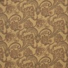 K0117A Dark Orange Tan Brown Floral Foliage Woven Indoor Outdoor Upholstery Fabric By The Yard