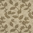 K0128A Light Brown Beige Leaves Woven Solution Dyed Indoor Outdoor Upholstery Fabric By The Yard
