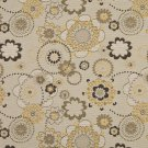 K0132A Gold Gray Tan Floral Woven Solution Dyed Indoor Outdoor Upholstery Fabric By The Yard