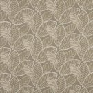 K0137A Gray Beige Leaves Woven Solution Dyed Indoor Outdoor Upholstery Fabric By The Yard