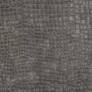 "K0151L Dark Grey Textured Alligator Shiny Woven Velvet Upholstery Fabric By The Yard | 54"""" Wide"