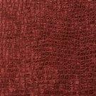 "K0151T Burgundy Textured Alligator Shiny Woven Velvet Upholstery Fabric By The Yard | 54"""" Wide"