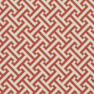 A205 Outdoor Indoor Marine Upholstery Fabric By The Yard| Greek Key Geometric - Pink and Off White