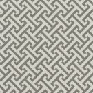 A207 Outdoor Indoor Marine Upholstery Fabric By The Yard| Greek Key Geometric - Grey and White