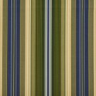 A213 Outdoor Indoor Marine Upholstery Fabric By The Yard| Various Size Stripes - Blue Green Gold