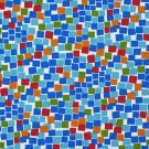 A217 Outdoor Indoor Marine Upholstery Fabric By The Yard| Square Boxes - Red, Blue, Green and Orange