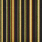 A221 Outdoor Indoor Marine Upholstery Fabric By The Yard| Various Size Stripes - Black, Red and Gold
