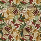 A237 Outdoor Indoor Marine Upholstery Fabric By The Yard| Various Vibrant Leaves - Red Green Gold