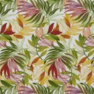 A238 Outdoor Upholstery Fabric By The Yard Contemporary Various Vibrant Leaves - Green Red Yellow