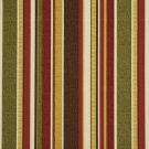 A240 Outdoor Indoor Marine Upholstery Fabric By The Yard Various Size Stripes - Red Green Brown Gold