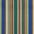 A241 Outdoor Indoor Marine Upholstery Fabric By The Yard| Various Size Stripes - Teal Brown Green