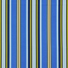A282 Outdoor Indoor Upholstery Fabric By The Yard Various Size Stripes - Blue Yellow White Green
