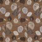 A373 Brown Ivory Beige Leaves Roses Tweed Textured Metallic Upholstery Fabric By The Yard