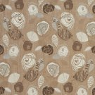 """A375 Brown Ivory Leaves Roses Tweed Textured Metallic Upholstery Fabric By The Yard 