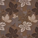 """A389 Brown Ivory and Beige Large Leaves Textured Metallic Upholstery Fabric By The Yard 