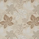 """A393 Beige Large Leaves Textured Metallic Upholstery Fabric By The Yard 