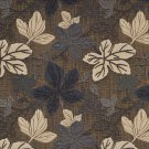 A394 Silver Grey and Beige Large Leaves Textured Metallic Upholstery Fabric By The Yard | Width: 54""