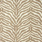 E190 Beige Zebra Pattern Textured Woven Chenille Upholstery Fabric By The Yard