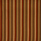 F471 Red, Green and Brown Striped Woven Upholstery Fabric By The Yard | Width: 54""""
