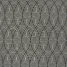 A030 Grey Black Silver Contemporary Overlapping Ovals Upholstery Fabric By The Yard | Width: 54""""