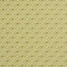 K0210B Light Green And Orange Geometric Small Scale Diamonds Upholstery Fabric By The Yard